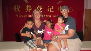 Official Adoption Day in our official adoption shirts :)